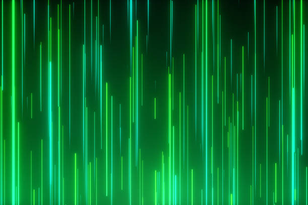Abstract directional neon lines geometric background. Data flow. Optical fiber. Explosion star. 3d illustration motion effect. Green technology light spectrum, fluorescent light. Abstract directional neon lines geometric background. Data flow. Optical fiber. Explosion star. 3d illustration motion effect. Green technology light spectrum, fluorescent light. excitment stock pictures, royalty-free photos & images
