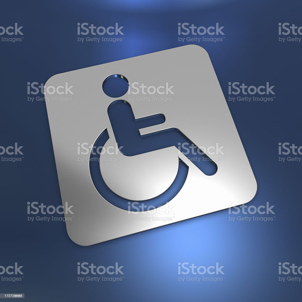 abstract Disable sign royalty-free stock photo