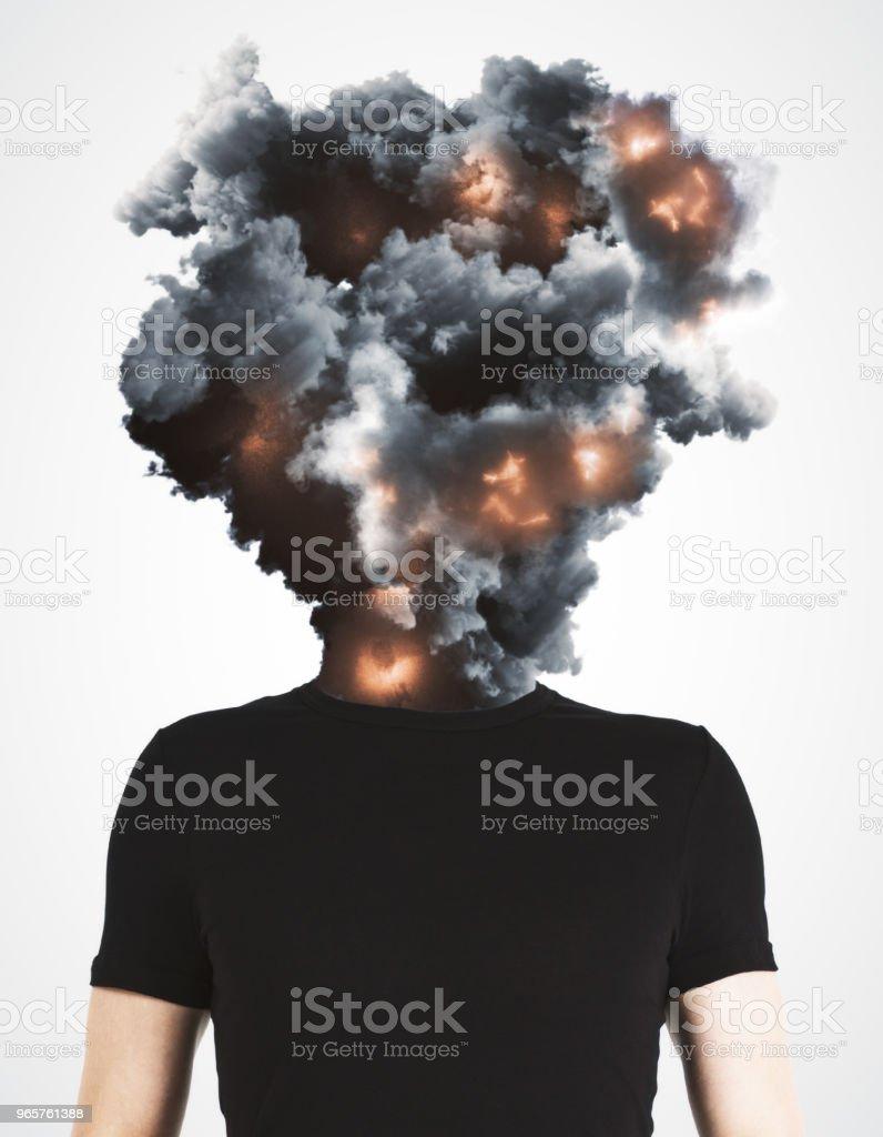 Abstracte achtergrond van de ramp en stress - Royalty-free Abstract Stockfoto