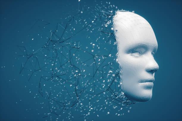 Abstrakte zerfallenden menschlichen Gesicht – Foto