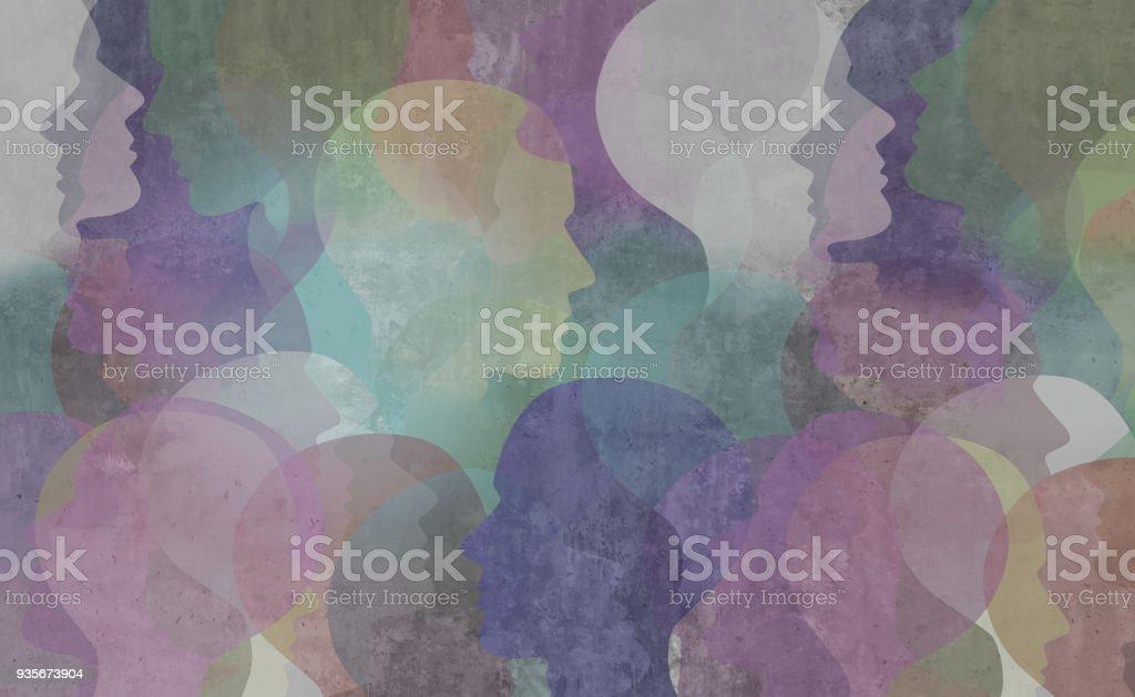 Abstract Diversity Society stock photo