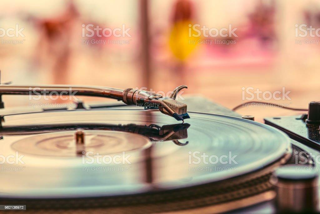 Abstracte achtergrond van de DJ foto