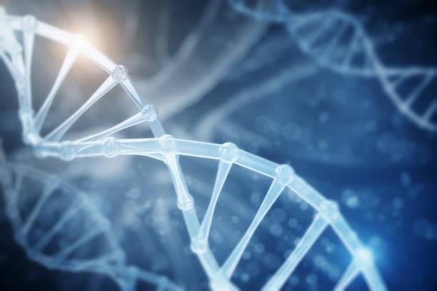 Abstract DNA backdrop stock photo