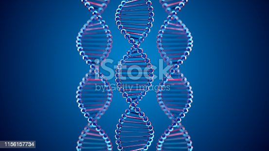 istock Abstract DNA Molecular Structure 1156157734