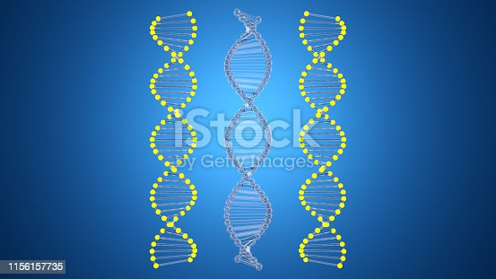 istock Abstract DNA Molecular Structure 1156157735