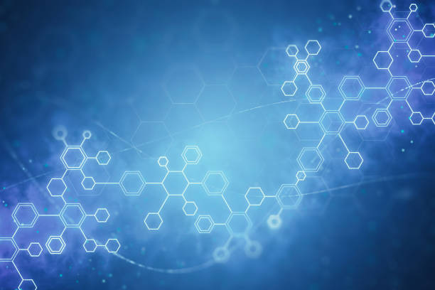 abstract DNA molecules background stock photo