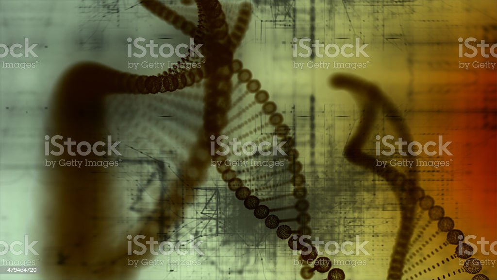Abstract DNA. stock photo