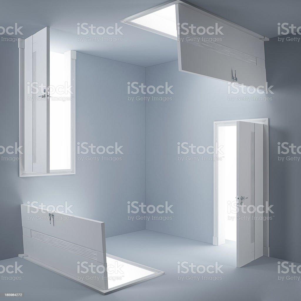 Abstract doors royalty-free stock photo