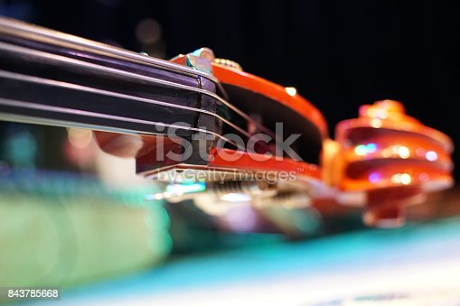 Abstract double bass part close up