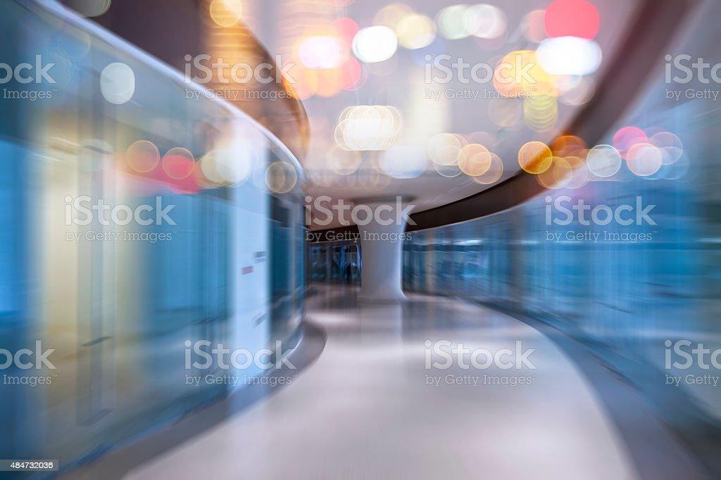 Abstrakte Doppelbelichtung Büro Hintergrund Unscharf gestellt – Foto