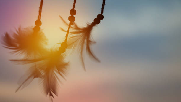 Abstract dream catcher background stock photo