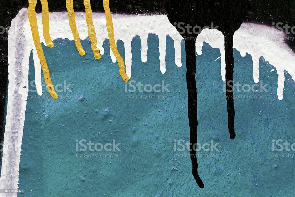 Abstract Dripping Paint / Graffiti royalty-free stock photo