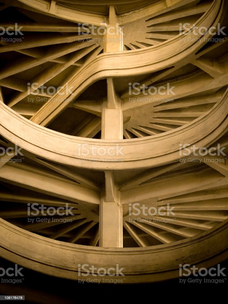 Abstract Driveway....Lingotto-Building. Turin. royalty-free stock photo