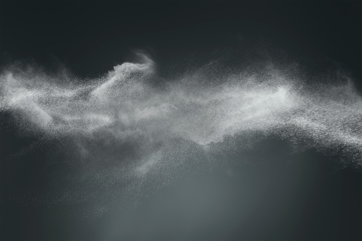 Abstract dust cloud design