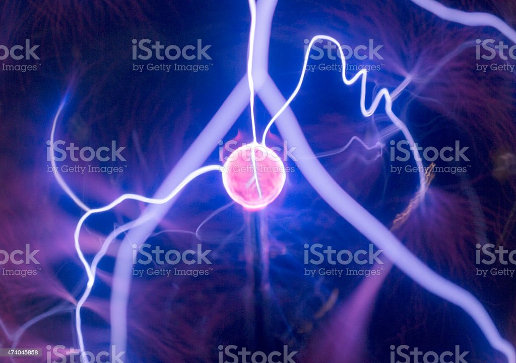 Abstract electrical current stock photo