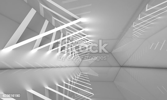 istock Abstract empty 3d interior background 623616190