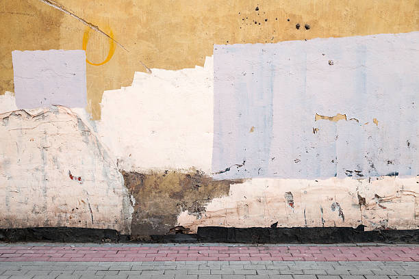 Abstract empty abandoned urban courtyard fragment stock photo