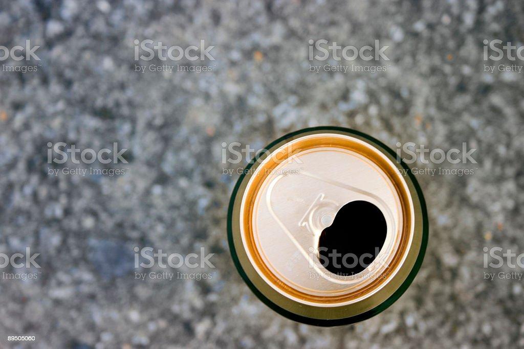 Arrière-plan vide beer can photo libre de droits