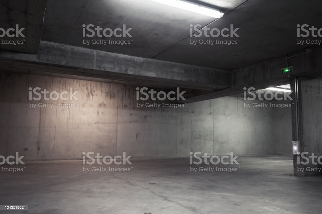 Abstract empty garage interior, background foto stock royalty-free