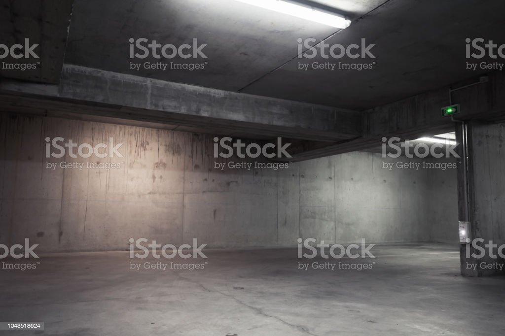 Abstracta fondo interior, garaje vacío foto de stock libre de derechos