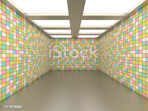 949309726 istock photo Abstract empty illuminated tunnel 1217975355