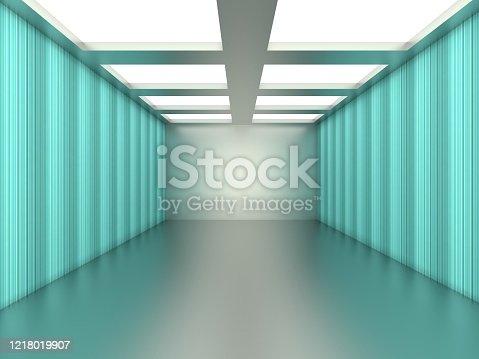949309726 istock photo Abstract empty illuminated tunnel 1218019907