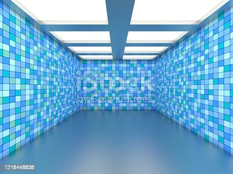 949309726 istock photo Abstract empty illuminated tunnel 1218448838