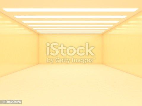 949309726 istock photo Abstract empty illuminated tunnel 1248684926