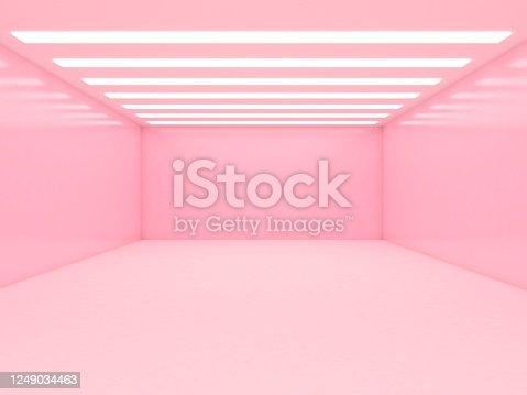 949309726 istock photo Abstract empty illuminated tunnel 1249034463