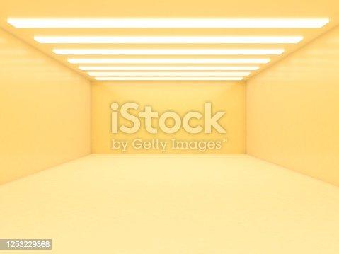 949309726 istock photo Abstract empty illuminated tunnel 1253229368