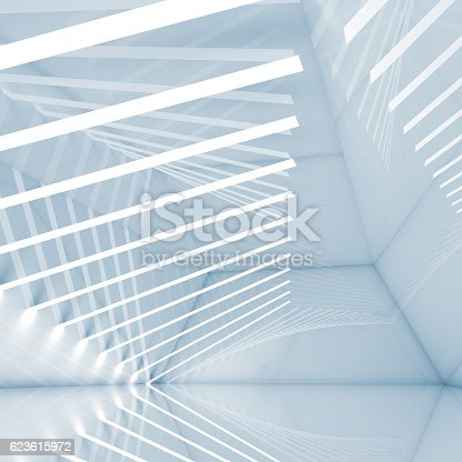 istock Abstract empty interior, 3d design 623615972