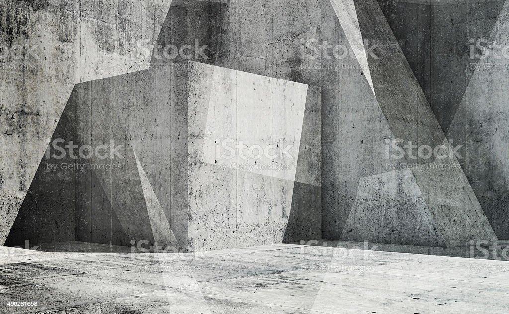 Abstrakte leere interior Hintergrund, 3d-art – Foto