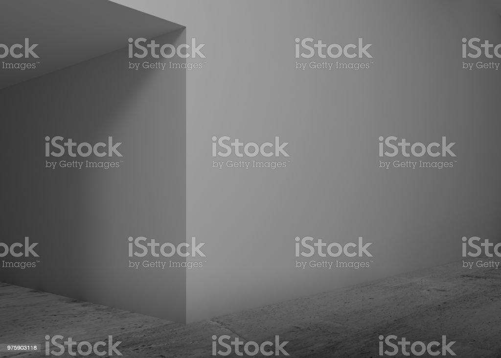 abstrakte leeren innenraum hintergrund flur 3 d lizenzfreies stock foto