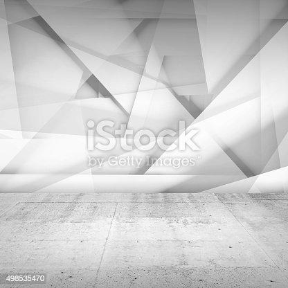 516688156istockphoto Abstract empty interior background, white room 498535470