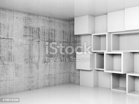 516688156istockphoto Abstract empty interior background with white cubes 478918398