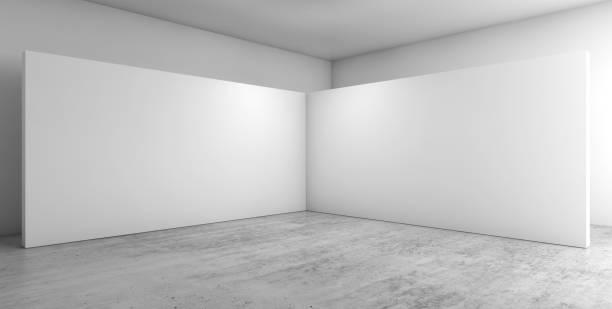 abstract empty interior, corner 3d - róg zdjęcia i obrazy z banku zdjęć