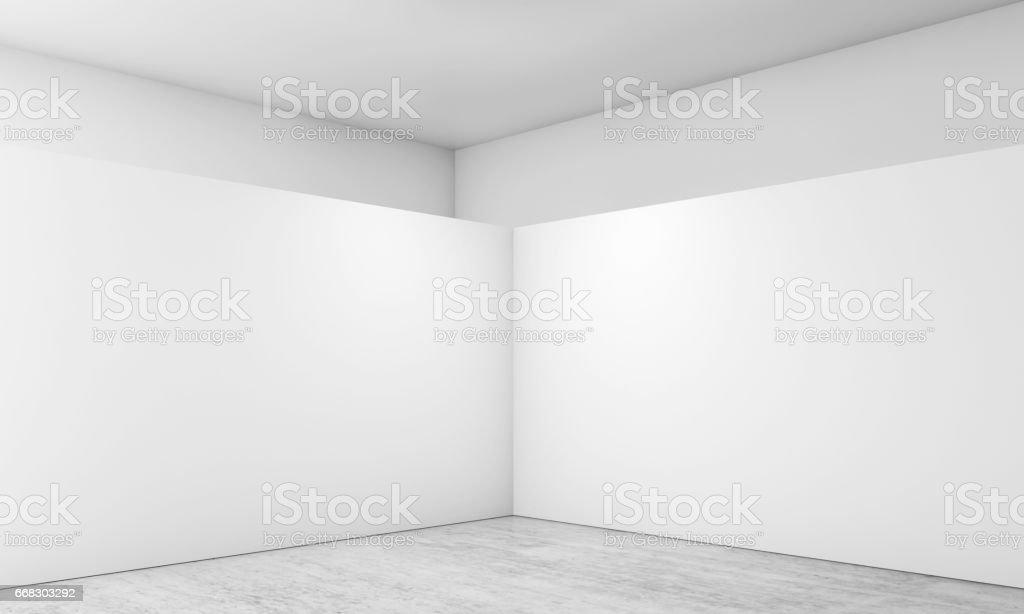 Abstract empty interior, corner 3d