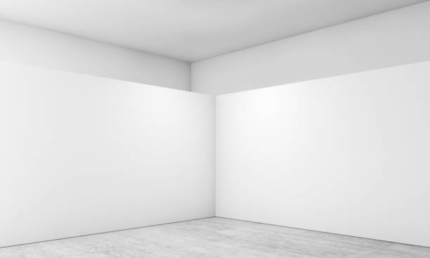 abstract empty interior, corner 3d - corner stock photos and pictures