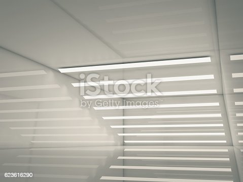 478919130istockphoto Abstract empty interior, lights stripes 3d 623616290