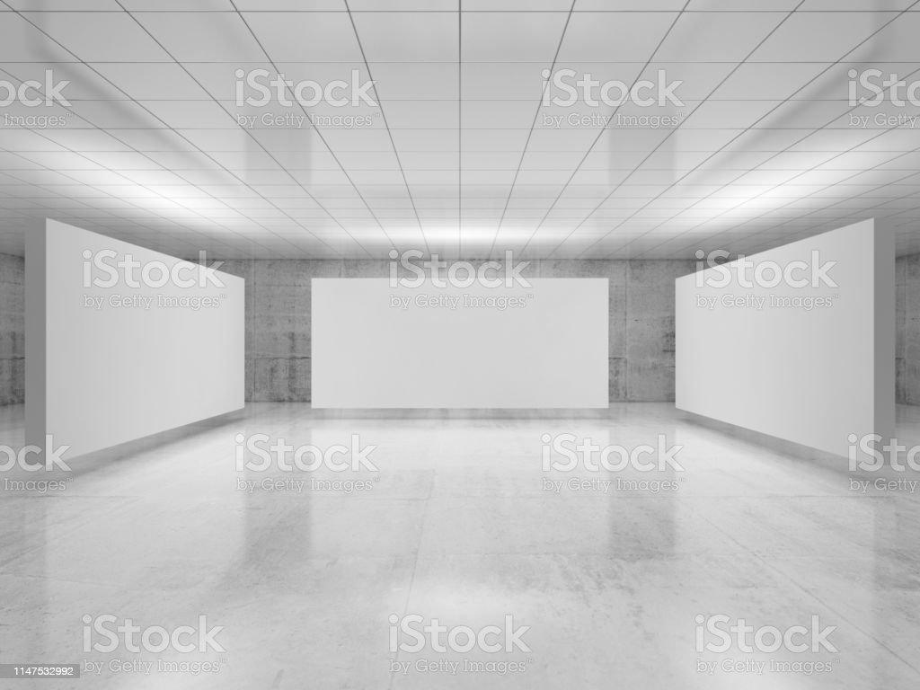 Abstract Empty Minimalist Interior 3 D Stock Photo Download Image Now Istock