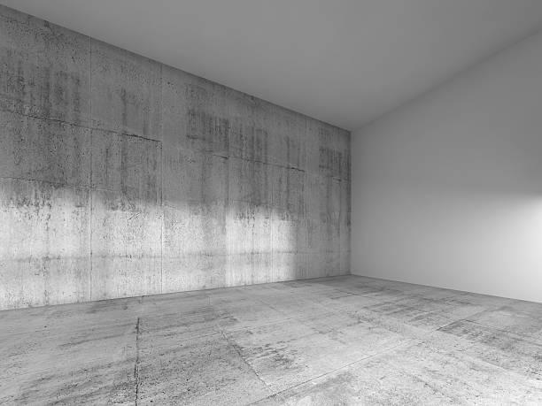抽象的な空のお部屋のインテリア、白、コンクリート ストックフォト