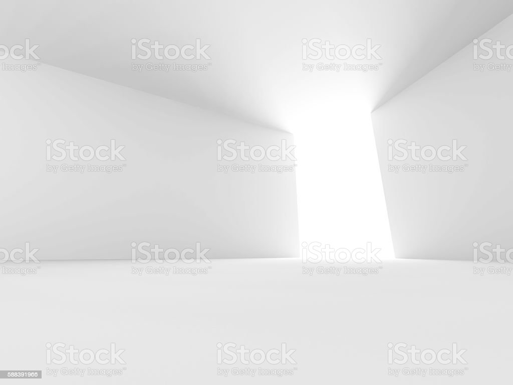 Abstract empty white interior with window and bright light – Foto