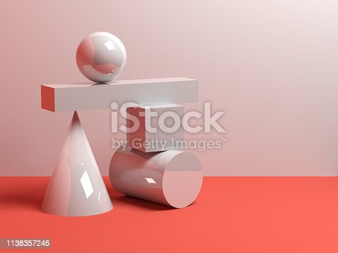 950775710 istock photo Abstract equilibrium concept, installation 3d 1138357245
