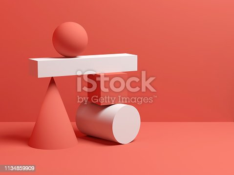 istock Abstract equilibrium still life installation 3d 1134859909