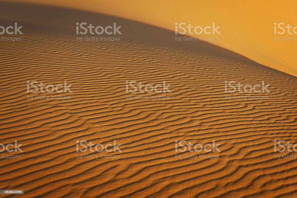 Abstract Erg Chebbi Desert, Evening Sun, Morocco royalty-free stock photo