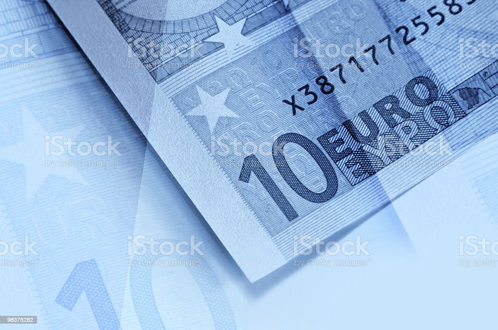 Abstract euro money background royalty-free stock photo