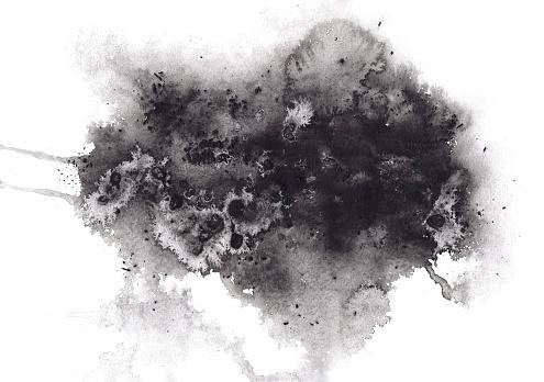 Soyut Anlamlı Siyah Suluboya Lekesi Stok Fotoğraflar & ABD'nin Daha Fazla Resimleri