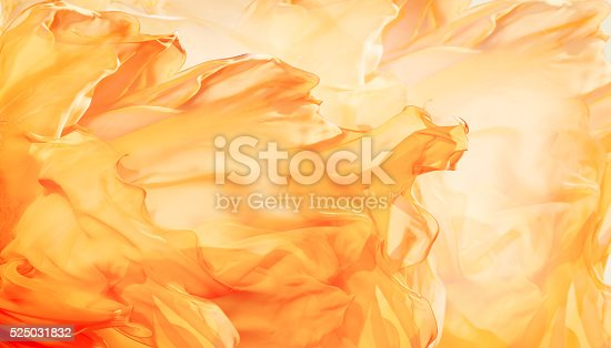 525031832 istock photo Abstract Fabric Flame Background, Artistic Waving Cloth Fractal Pattern 525031832