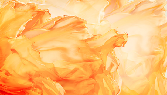 istock Abstract Fabric Flame Background, Artistic Waving Cloth Fractal Pattern 525031832