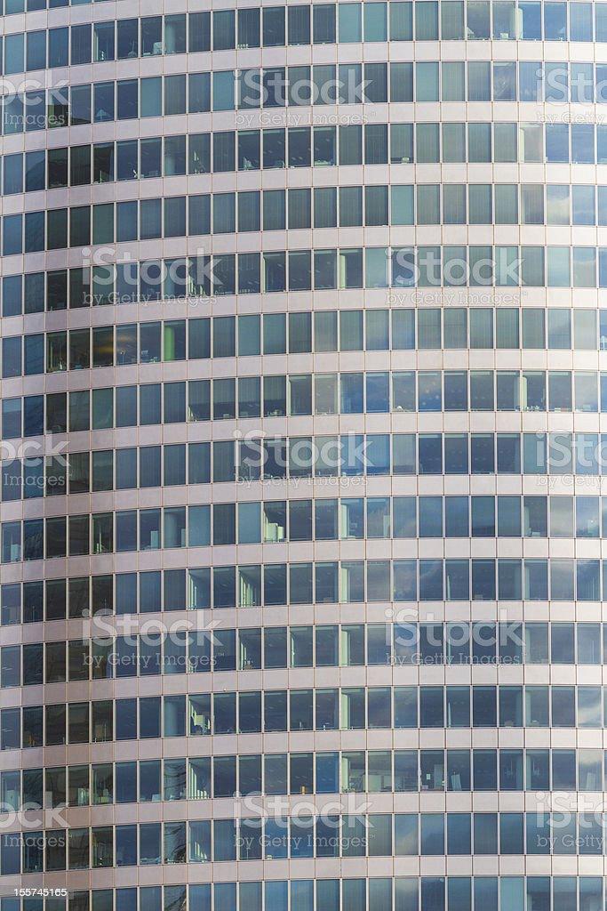 Abstract Facade of Skyscraper in Paris royalty-free stock photo